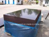 Una vez/dos por la madera contrachapada Shuttering hecha frente película negra de 18m m Brown