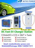 100kw 고성능 전기 차량 DC EV는 충전소 SAE/Gbt/Chademo 연결관을%s 가진 단식한다