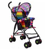 Heißer verkaufenbaby-Spaziergänger/einfacher Falten-Spaziergänger/bunte Baby-Laufkatze