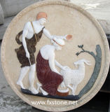 Scultura di marmo della scultura di marmo di rilievo (MRL-002)