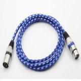 Kleurrijke Nylon Schede 3pin van de Legering van het Zink Kabel XLR voor Microfoon