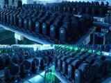 7X10W RGBW 4-en-1 Efecto etapa del LED Light Beam cabezas móviles