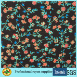 Light Weight Small Printing Tissu Viscose Floral pour Robes Filles
