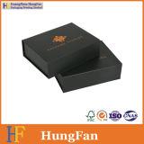 Contenitore impaccante di carta di stampa di regalo nero di lusso dell'imballaggio