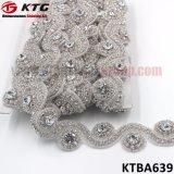 Оптовая торговля высокое качество ручной работы рельефная облицовка Rhinestone Crystal свадебные платья украшения