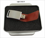 USBのフラッシュ駆動機構OEMのロゴの革PU USB Pendrivesのフラッシュカードのメモリ棒USBのフラッシュ親指のメモリ・カードUSBのフラッシュペン駆動機構