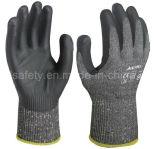 Покрынный нитрил Анти--Отрезал перчатку работы с стальным волокном (ND6508)