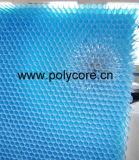 Peso ligero resistente al agua policarbonato azul panal.