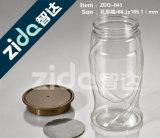 Latas de pintura plástica clara, recipiente de plástico com tampa de parafuso para embalagem de creme