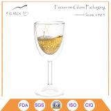 Copas de doble pared de vidrio de Champagne