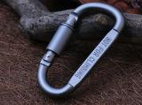 Alu. Forma chave Carabiner da liga D