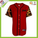 Sublimation toutes chemises d'uniforme du Jersey de base-ball de Rose du base-ball d'hommes personnalisées par logo