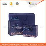 カスタム豪華な高品質の小さい宝石類のアートペーパーの買物袋