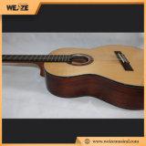 Sapele 단단한 말쑥한 목제 최고 뒤 고전적인 기타 39inch