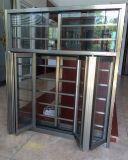 Eindeutiger Burgular-Beweis faltendes Aluminiumfenster mit eingebautem Flyscreen (BHA-CW19)