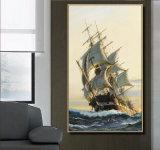 Оптовая картина маслом украшения высокого качества, домашняя картина украшения, картина искусствоа (абстрактная картина маслом sailing)