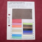 Couro sintético do plutônio do projeto de superfície de seda para o caderno da sapata do saco