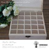 Hongdao kundenspezifischer hölzerner Teebeutel-Ablagekasten mit Teilern Wholesale_D