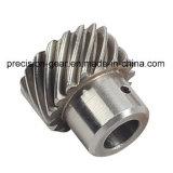 Engrenagem helicoidal para máquina de chapa de corte, engrenagem de dente helicoidal de aço