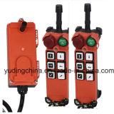 F21-E1 2 controles industriales de Radio Remote del solo pulsador de la velocidad del receptor del transmisor 1 para el alzamiento