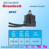 IP67 Zippy 0.1A 12VDC anerkannter Mikroschalter