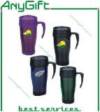 Xícara de café de plástico com o logotipo personalizado