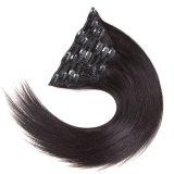 Grampo de cabelo brasileiro do Virgin de Bhf em Ins reto brasileiro humano 14-24inches do grampo de cabelo humano da extensão 100g 120g 140g 160g do cabelo