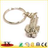 Keyring especial da forma da broca do metal do ouro