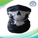 Masque magique multifonctionnel sans joint de Veille de la toussaint d'écharpe de crâne de face de tube de cuir épais sans joint noir de masque