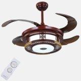 Вентилятор потолка Китая традиционный деревянный с светом с набором дистанционного управления