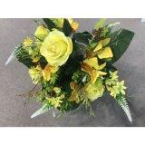 나비 낱단 인공 꽃 실크 꽃 가짜 잎 결혼식 홈 당 훈장