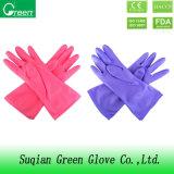 Luvas para uso doméstico de PVC de Limpeza de cor