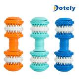 Dientes molares plásticos del animal doméstico de la limpieza del diente de engranaje que limpian el juguete del perro del Chew
