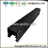 양극 처리 완료를 가진 6063 T6 제조자 검정 알루미늄 LED 단면도