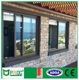 Pnoc080818ls estilo Americano con doble vidrio de ventana deslizante