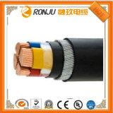 Медный/алюминиевый силовой кабель проводника изолированный PVC (PE) обшитый PVC