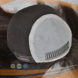 Perruque à extrémité élevé de bonne qualité de cheveux humains (PPG-l-0874)