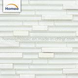 Nuovo spessore casuale lucido caldo della striscia mattonelle di mosaico di vetro nere pure da 8 millimetri