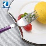 ABS van uitstekende kwaliteit behandelen het het Purpere Mes van het Fruit van de Kleur en Tafelgereedschap van de Vork