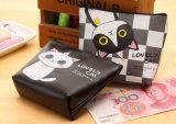 女の子PUの札入れの女性のかわいいジッパー袋の子供のPurse Bolsa De Moeda Coinsの袋Monedero Gatoのための小型猫の硬貨の財布