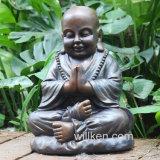 樹脂の精神的な彫刻の黙想する仏の彫像