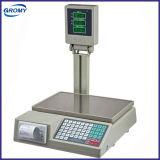 Elektronischer Digital-Preis-rechnenschuppe mit Drucker mit Pole-Bildschirmanzeige
