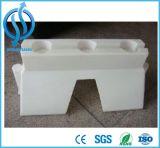 Barreira plástica enchida água usada da segurança de tráfego da estrada