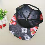 Chapéus feitos sob encomenda pretos do partido do bordado do poliéster 3D do lazer do tampão do logotipo do Snapback