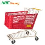 180 Liter Plastiksupermarkt-Einkaufen-Laufkatze-Karren-