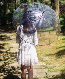 Il parasole trasparente degli ombrelli della donna della pioggia delle ragazze degli ombrelli scherza qualità libera sveglia Poe di Paraguas delle donne della pioggia dell'ombrello la buona