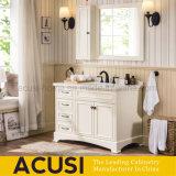 Moderner Ivory Farben-Fußboden, der festes Holz-Badezimmer-Schrank (ACS1-W66, steht)