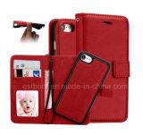 Cas en cuir multifonctionnel de téléphone mobile d'unité centrale pour l'iPhone 6/7 8
