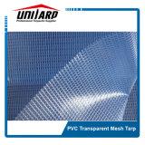 1000d 3*3 300GSM super freie transparente Belüftung-Vinylineinander greifen-Plane