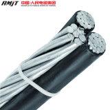 0.6/1kv-33kv PVC/XLPE/PEによって絶縁されるオーバーヘッド電気伝達空気の束ねられたケーブル
